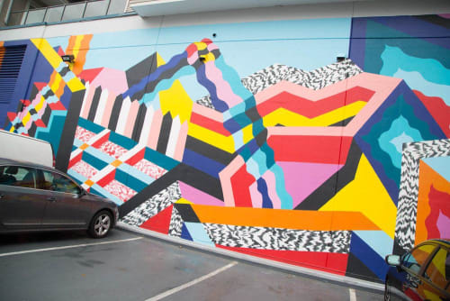 Street Murals by Priscilla Yu seen at 5639 Victoria Dr, Vancouver - Spectrums Mural
