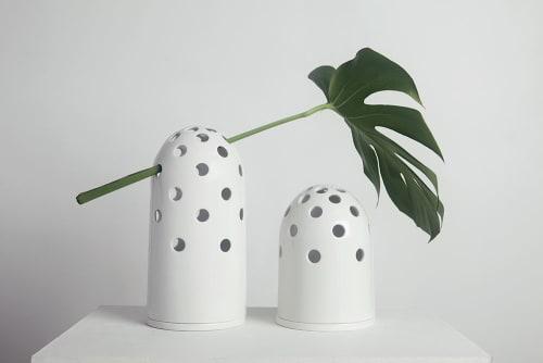 Vases & Vessels by Krafla seen at Krafla Studio, Kraków - Fly's Eye Vase | big / white