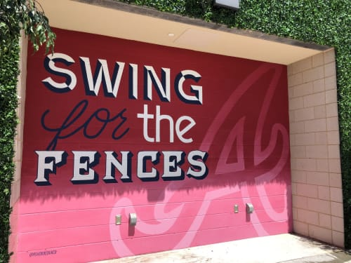 Murals by Pandr Design Co. seen at SunTrust Park, Atlanta - Atlanta Braves Mural