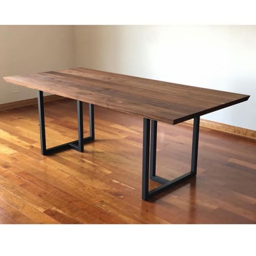 Tables by Angel City Woodshop seen at Private Residence, West Hollywood - Walnut Dining Table