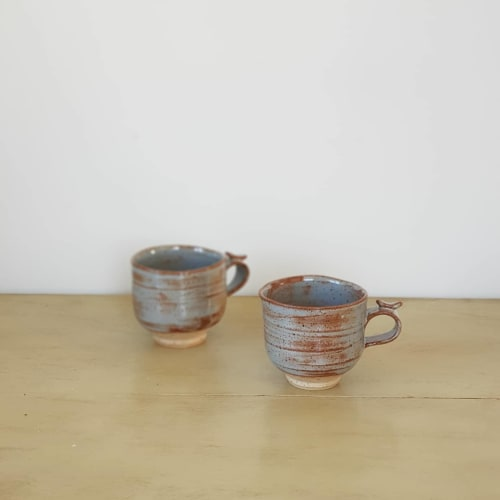 Ceramic Plates by Jinho Jeong Ceramics seen at Private Residence, Auckland - Coffee and Tea Mugs