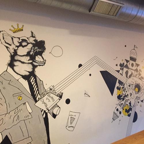 Murals by Axel Geittmann seen at Huckleberry Roasters, Denver - Indoor Mural