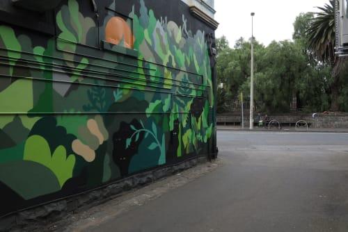 Street Murals by FIKARIS seen at Moonee Ponds, Moonee Ponds - Look In