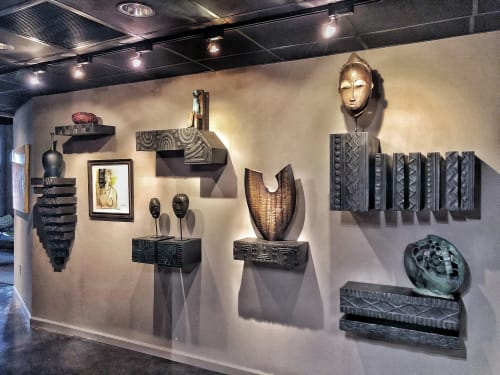Art & Wall Decor by Andi-Le seen at Private Residence, Fort Worth - Sculptured Shelf Installation