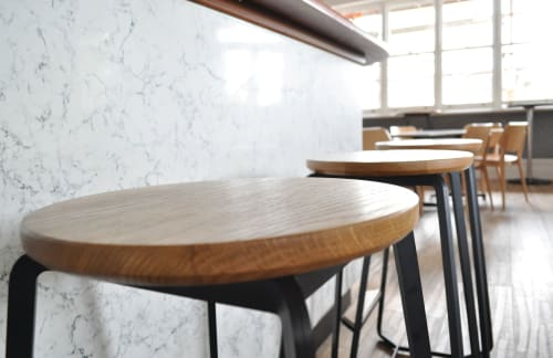 Chairs by Caren Elliss Design seen at Britannia Hotel, Norwood - Luhne Stools