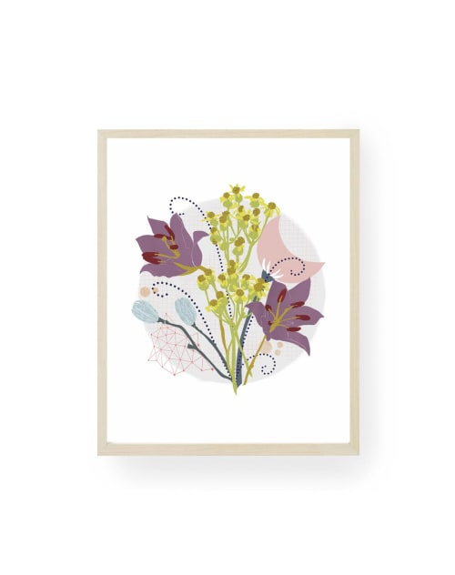 Paintings by Birdsong Prints - Abstract Botanical Print