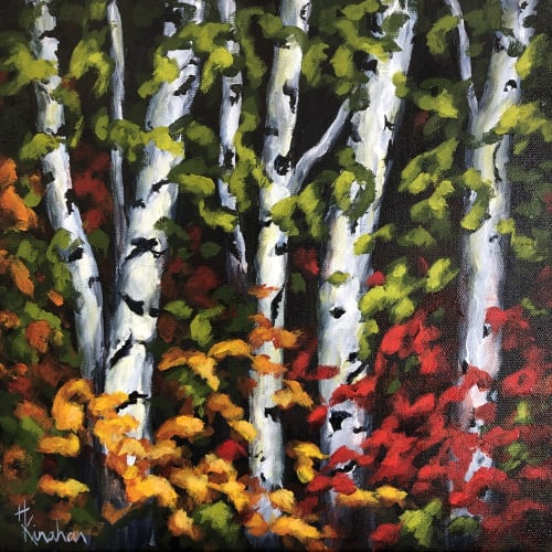 Paintings by Heather Kinahan Art seen at Private Residence, Calgary - Essence of Fall