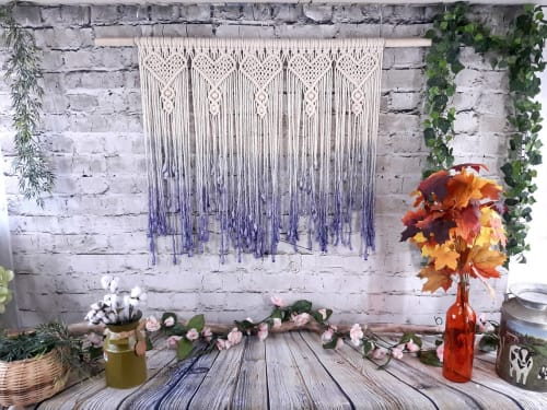 Macrame Curtain Beaded Wall Hanging   Macrame Wall Hanging by Desert Indulgence