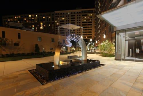 Public Sculptures by Jason Krugman seen at 4800 Auburn Ave, Bethesda - Rhythm and Form