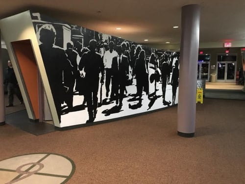 Murals by Mario M. Muller seen at Baxter Avenue Theatres, Louisville - Interior Mural