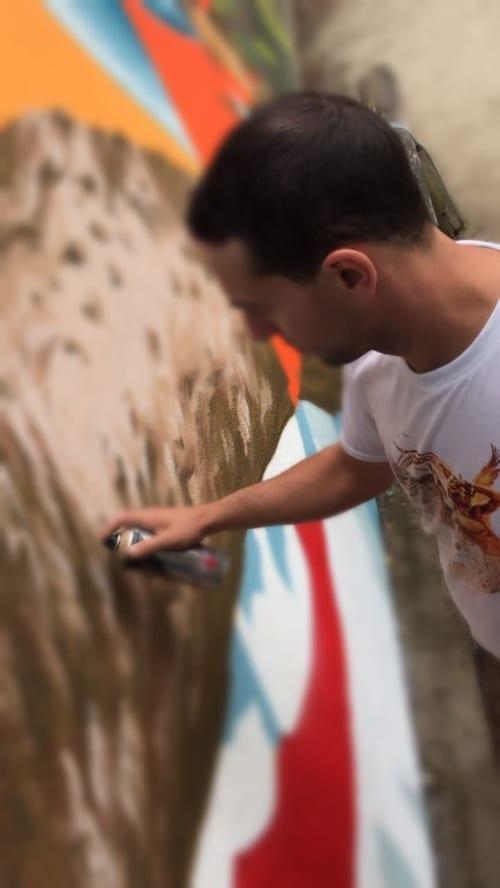 """Street Murals by Jabi """"Corte"""" Landa-Blanco seen at Heiligenhaus, Heiligenhaus - Bird Generation"""