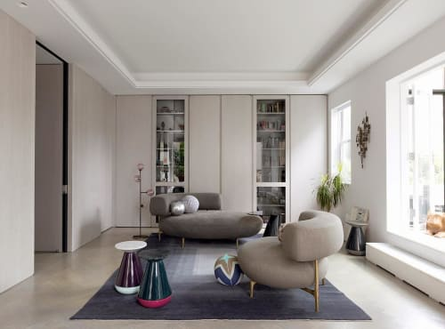 Furniture by Lumifer by Javier Robles seen at Private Residence, New York - BUOY Tables , HELIX Floor Lamp, SATELLITE Tables