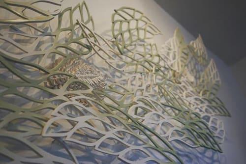 Sculptures by Belle Ceramics seen at Freret Beer Annex, New Orleans - Green Wave