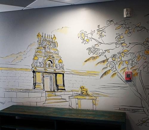 Murals by Souren Mousavi seen at Vanilla Sky - Miami Yoga Brickell, Miami - Vanilla Sky Yoga Mural