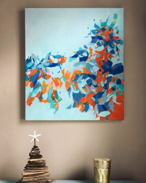 "Paintings by Cameron Schmitz seen at Private Residence, Scituate - ""Abundance"""
