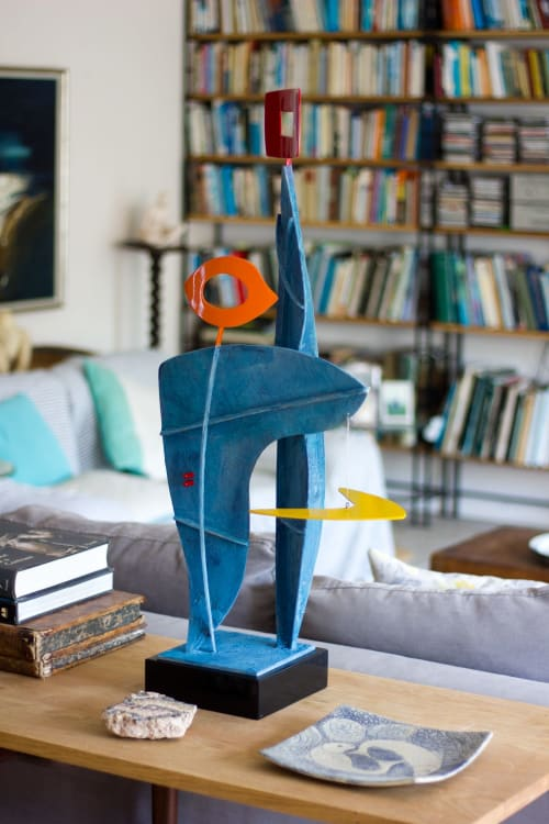 Sculptures by Paul Stein Sculpture seen at Private Residence - Cape Town, South Africa, Cape Town - Abstract table sculpture with figurative elements