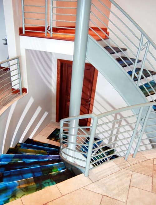 Art & Wall Decor by Walter Gordinier seen at Private Residence - Cast glass staircase