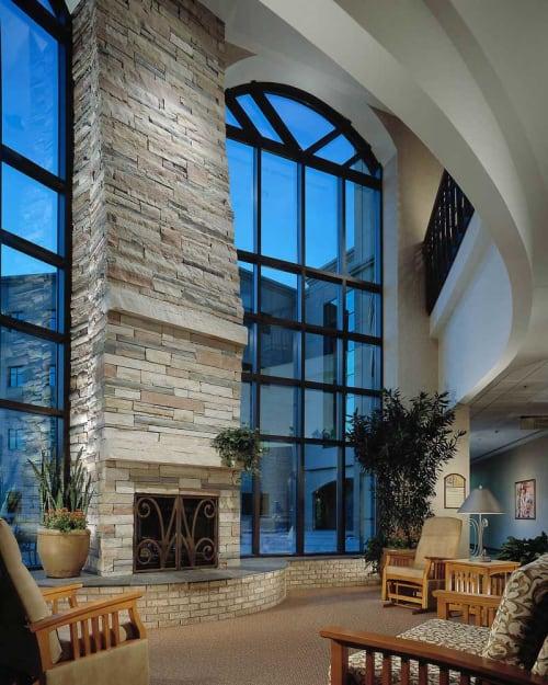 Interior Design by Marcelle Guilbeau Interior Design seen at Sky Ridge Medical Center, Lone Tree - Colorado Medical Center