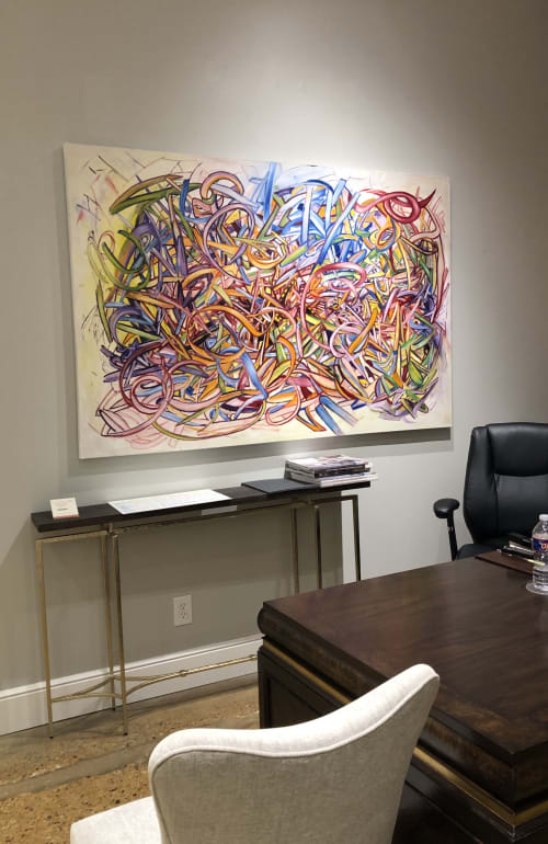 Kundalini   Paintings by Debbie Daise Art    @Debbiedaiseart   Ambella Home Collect Corporate in Dallas