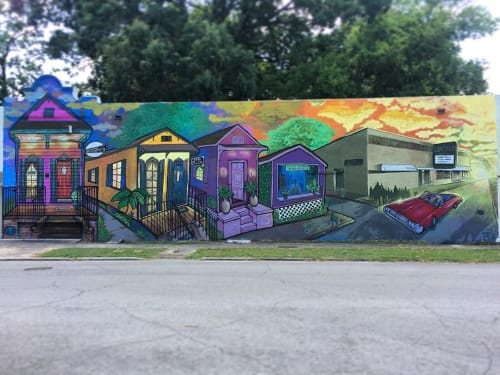 Street Murals by Skinny Dope seen at Baton Rouge, Baton Rouge - Welcome to Old South