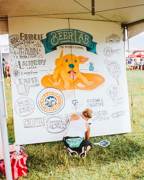 Art Curation by EyeRoll Creative seen at City Park, New Orleans - Interactive Mural for NOLA On Tap