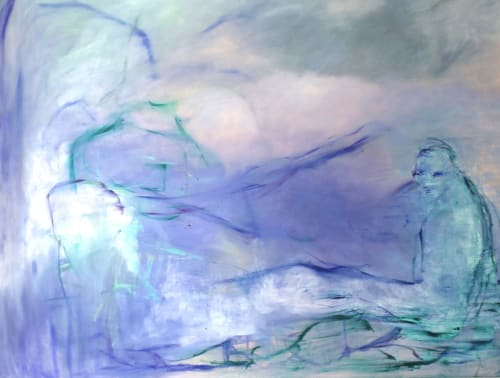 Paintings by willa vennema seen at Private Residence, Brooklyn - Figure in Fog