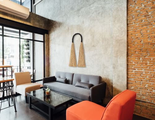 Macrame Wall Hanging by YASHI DESIGNS seen at Private Residence, San Diego - Large Jute Arcus