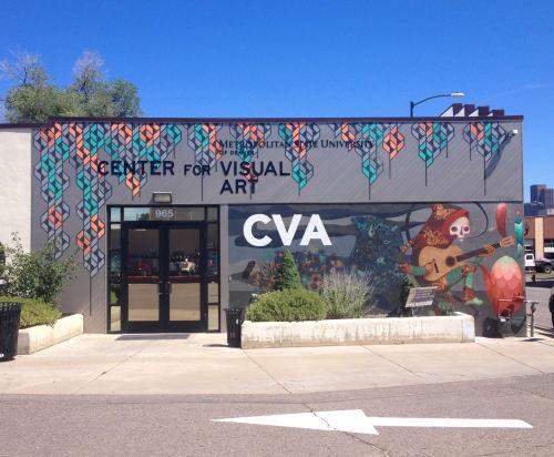 """Murals by Sandra Fettingis seen at Center for Visual Art -- Metropolitan State University of Denver, Denver - """"CO Women in Abstraction"""""""