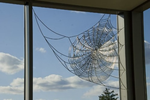 Public Sculptures by Dean Snyder Studio seen at Fidelity Investments- Corporate Office, Smithfield - Arachna's Arcade