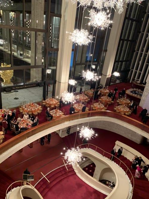 Work by J. & L. Lobmeyr seen at Metropolitan Opera House, New York - 11 Chandeliers