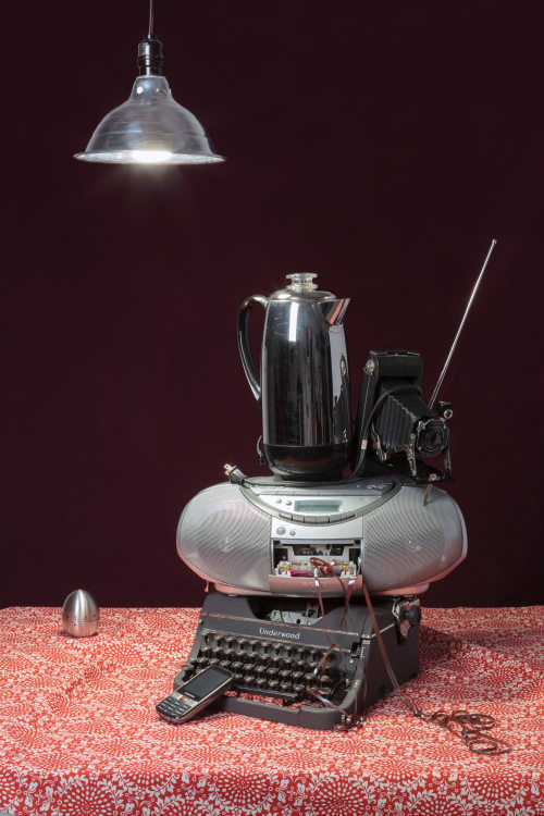 Photography by Jeanette May seen at Private Residence, New York - Tech Vanitas: Gray Typewriter