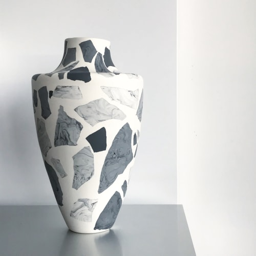 Vases & Vessels by Natascha Madeiski seen at Private Residence, Lincoln - Monochrome Terrazzo Vase