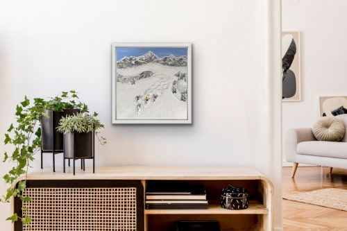 Paintings by Elizabeth Langreiter Art seen at Creator's Studio, Sydney - Just Us on the Slopes