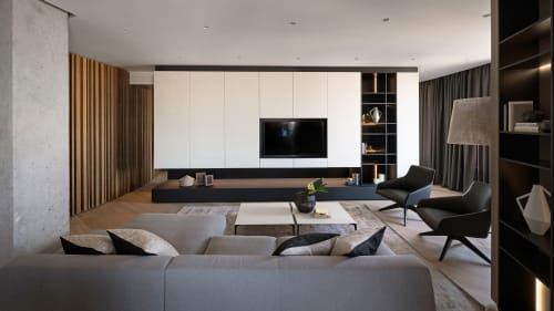 Interior Design by MONO architects seen at Private Residence, Kyiv - Skyline Apartment