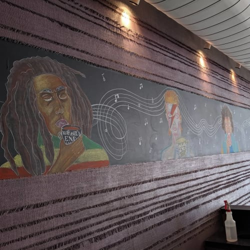 Murals by N.Susta.Art seen at Wheat's End Cafe, Chicago - Mural (artists)