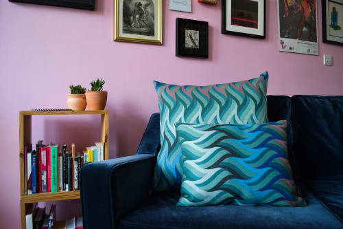 Pillows by Knapp Textiles seen at Creator's Studio, Huddersfield - FIBONACCI PRESENT CUSHION IN WOOL