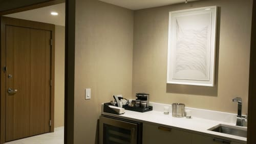 Paintings by Lauren Herzak-Bauman seen at Hilton Cleveland Downtown, Cleveland - Untitled Drawings