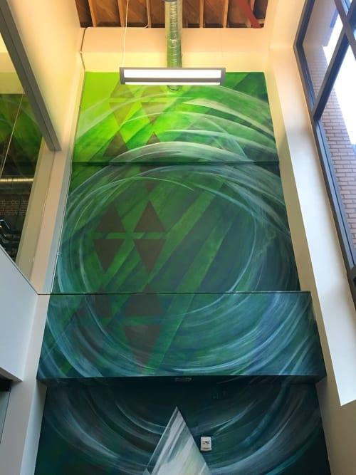 Murals by Mike Bam Tyau seen at Fidelity Information Services, LLC, San Francisco - Beyond Mauna Kea
