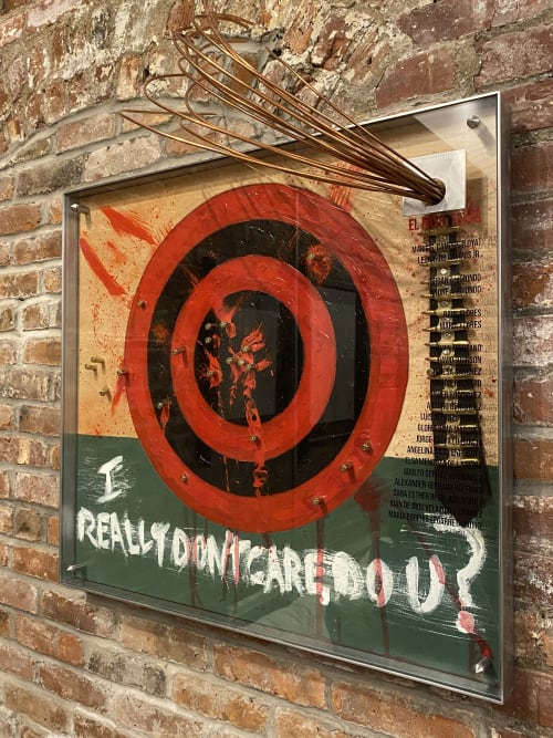 Murals by james azzarello seen at Private Residence, Beacon - Target Trump...El Paso Killings