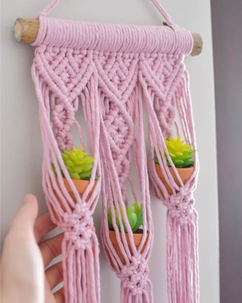 Macrame Wall Hanging by MacraMe2You seen at Private Residence, Martinsburg - Macrame Plant Hanger