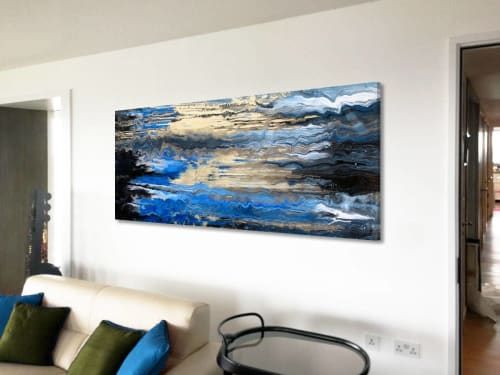 Paintings by Swarez Art seen at Private Residence, Stroud - Golden Shores