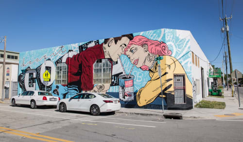 Murals by Whatisadam seen at 79 NW 20th St, Miami - Keep It Cool Cold Brew Mural