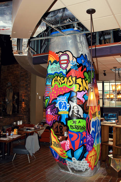 Street Murals by Alloyius Mcilwaine Art seen at Mad Rex Restaurant and Virtual Reality Lounge, Philadelphia - Mad Rex Murals