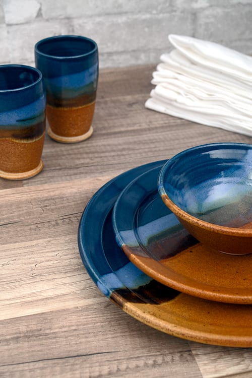 Tableware by Sunset Canyon Pottery at Austin, TX, Austin - Earth & Sky Tableware