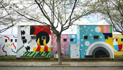 Street Murals by Elara Elvira seen at Camp de Futbol Municipal Mirasol Sant Cugat, Sant Cugat del Vallès - Mirasol