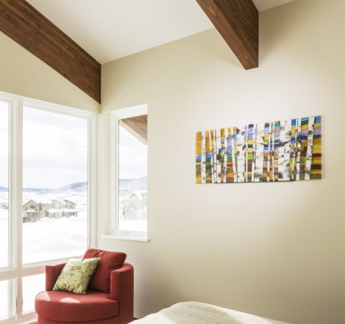 Wall Hangings by Jennifer Baker Glass Art seen at Private Residence, Steamboat Springs - Sunset