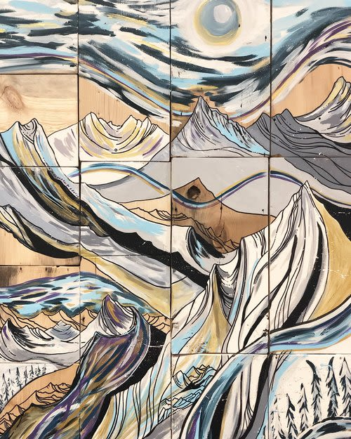 Murals by Sarah Uhl seen at Denver, Denver - For the Love of Snow