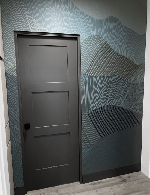 Wallpaper by Jill Malek Wallpaper seen at Private Residence - Reef Dimensional Wallcovering