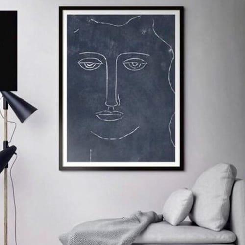 "Paintings by Rob Delamater Art at The Block Shop Pop Up, Saint Kilda - ""Moon"""