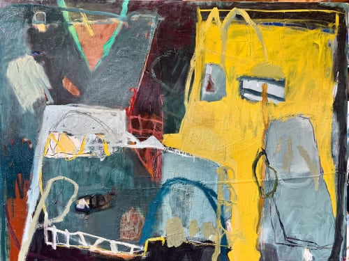 Paintings by Libby Mewing seen at Private Residence, Pymble - Mellow Yellow